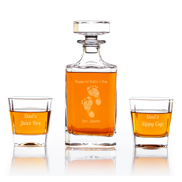 First Father's Day Personalized Whiskey Decanter Set