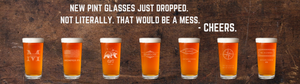 personalized pint glass beer