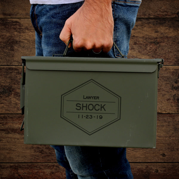 personalized ammo can for him