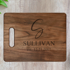 Personalized Cutting Board - Ornate Family Name