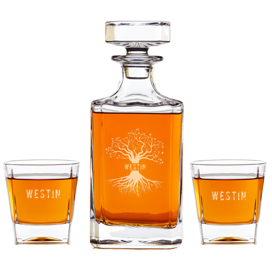 Custom Logo or Image Personalized Whiskey Decanter Set