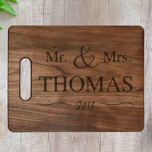 Personalized Cutting Board - Mr and Mrs Design