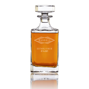 Personalized Whiskey Decanter - Diamond