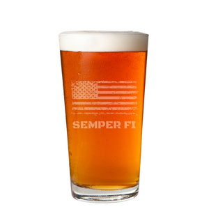 Set of 2 - Personalized Beer Glasses - 16oz Pint