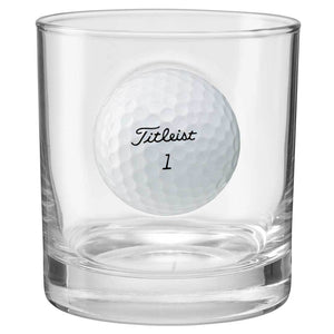 11oz Whiskey Glass Embedded Golf Ball
