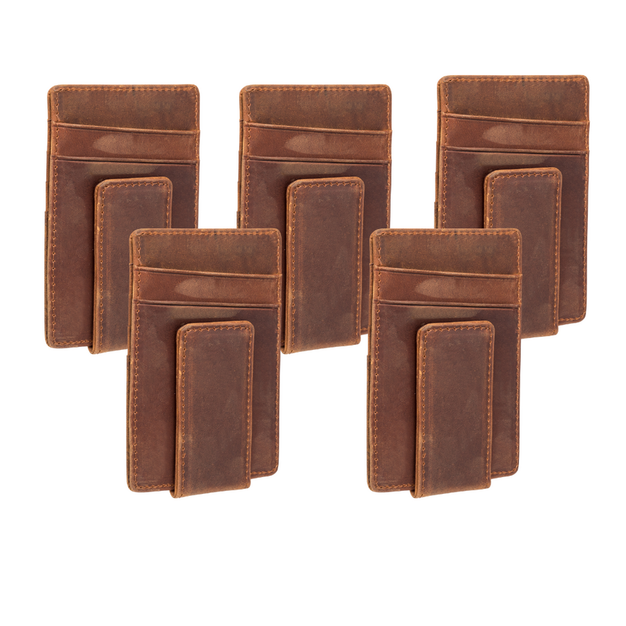 Groomsmen Set - Personalized Leather Money Clip's for Groomsmen
