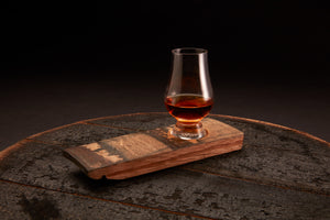 Whiskey Barrel Flight Board + Optional Glencairn Glass