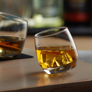 Personalized Tilting Whiskey Glass Tumblers - Set of 2