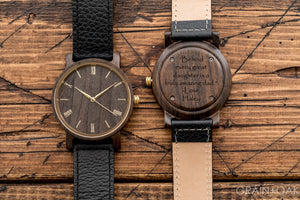 Anderson Ebony | Set of 4 Groomsmen Watches Grain and Oak