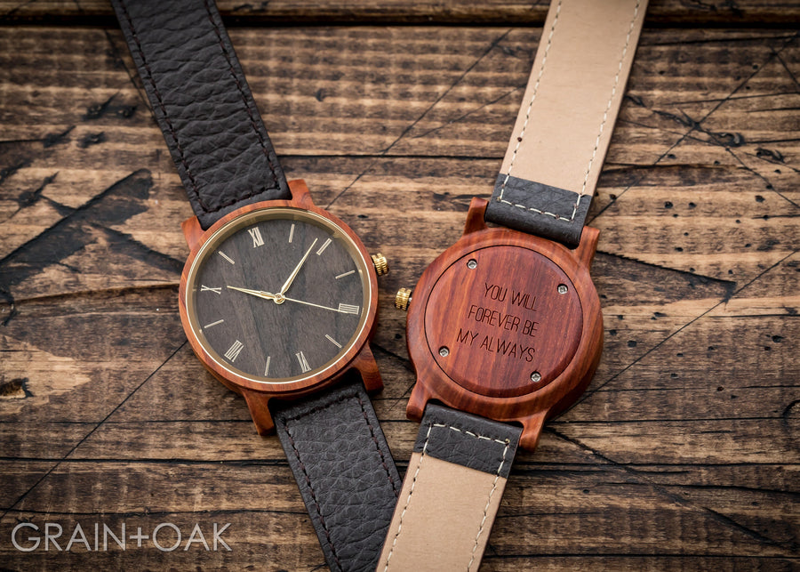 Anderson Sandalwood | Wood Watch Leather Band Watches Grain and Oak