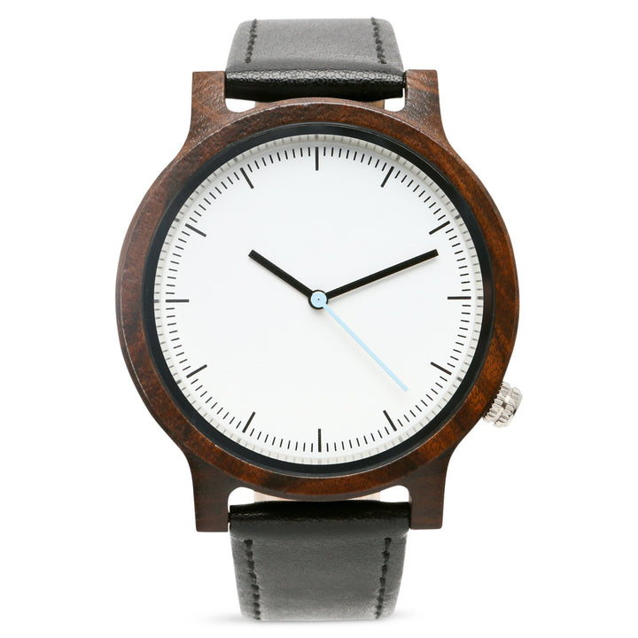 Atlas Ebony | Wood Watch Leather Band Watches Grain and Oak