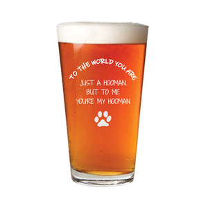 Dog Dad Pint Glass - Father's Day Grain and Oak