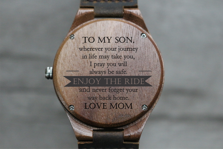 """Enjoy the Ride"" - Wood Watch 