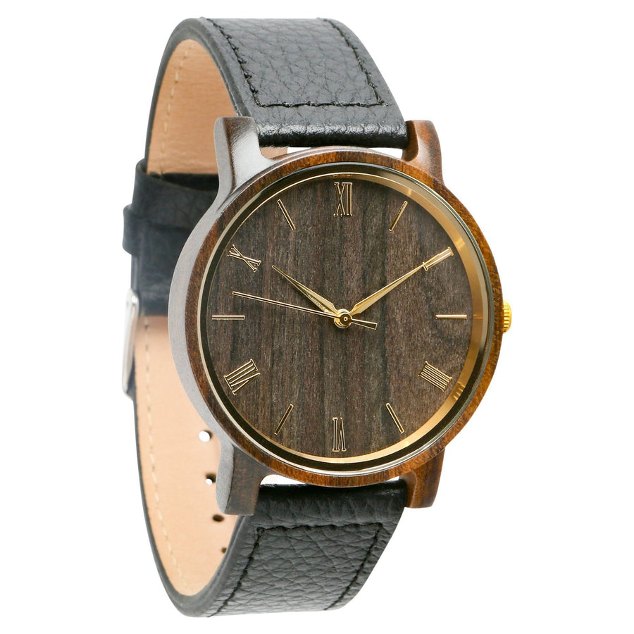 The Anderson Ebony | Set of 12 Groomsmen Watches Grain and Oak