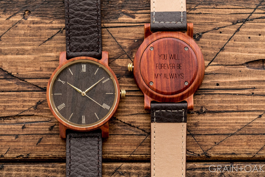 The Anderson Sandalwood | Set of 10 Mens Watches Grain and Oak