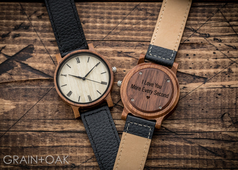 The Anderson Walnut | Set of 10 Mens Watches Grain and Oak