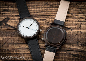 The Atlas Ebony | Set of 12 Groomsmen Watches Grain and Oak