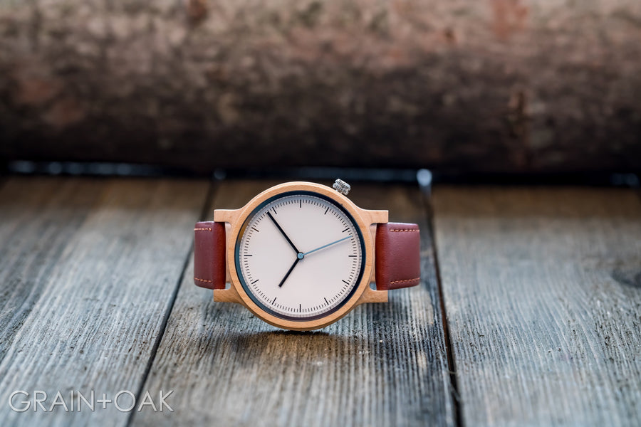 The Atlas Maple | Set of 7 Groomsmen Watches Grain and Oak