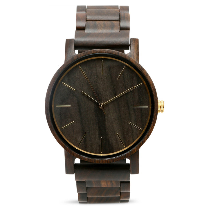 The Bentlee | Wood Watch Wooden Band Watches Grain and Oak
