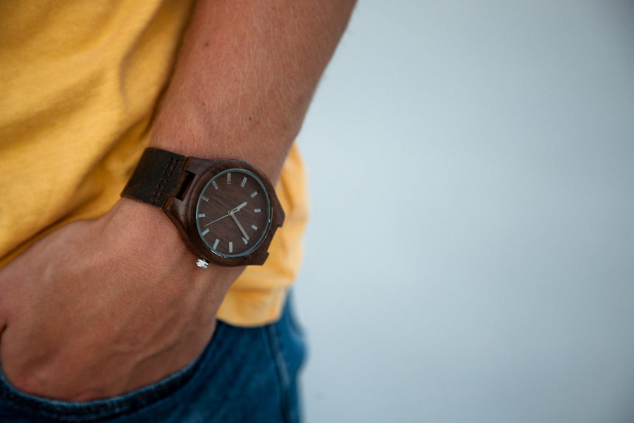The Burton | Wood Watch Leather Band Watches Grain and Oak