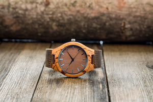 The Burton Zebrawood | Set of 11 Groomsmen Watches Grain and Oak