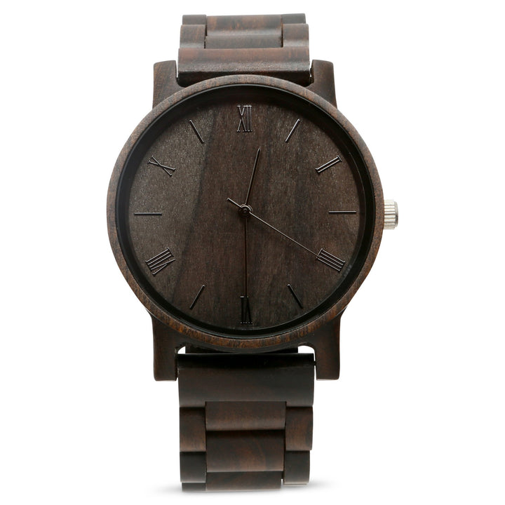 The Cedric Ebony | Set of 9 Groomsmen Watches Grain and Oak