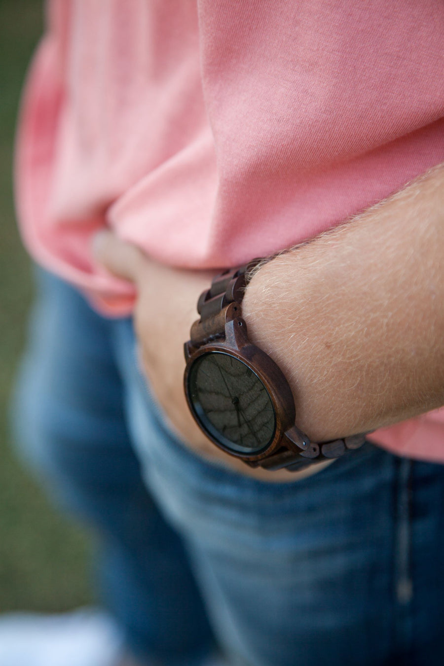 The Cedric Ebony | Wood Watches Wooden Band Watches Grain and Oak