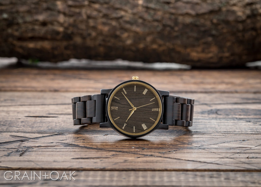 The Cedric Gold | Set of 10 Groomsmen Watches Grain and Oak
