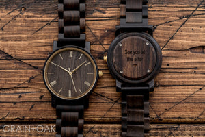 The Cedric Gold | Set of 11 Groomsmen Watches Grain and Oak