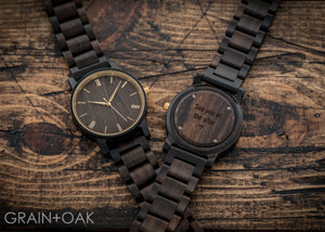 The Cedric Gold | Set of 5 Groomsmen Watches Grain and Oak