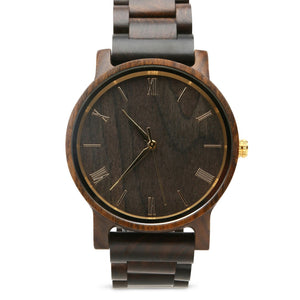 The Cedric Gold | Wood Watch Wooden Band Watches Grain and Oak