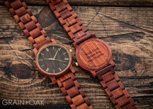 The Cedric Sandalwood | Set of 9 Groomsmen Watches Grain and Oak