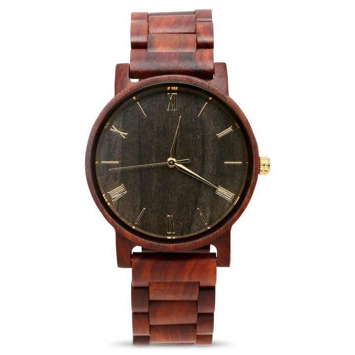 The Cedric Sandalwood | Wood Watch Wooden Band Watches Grain and Oak