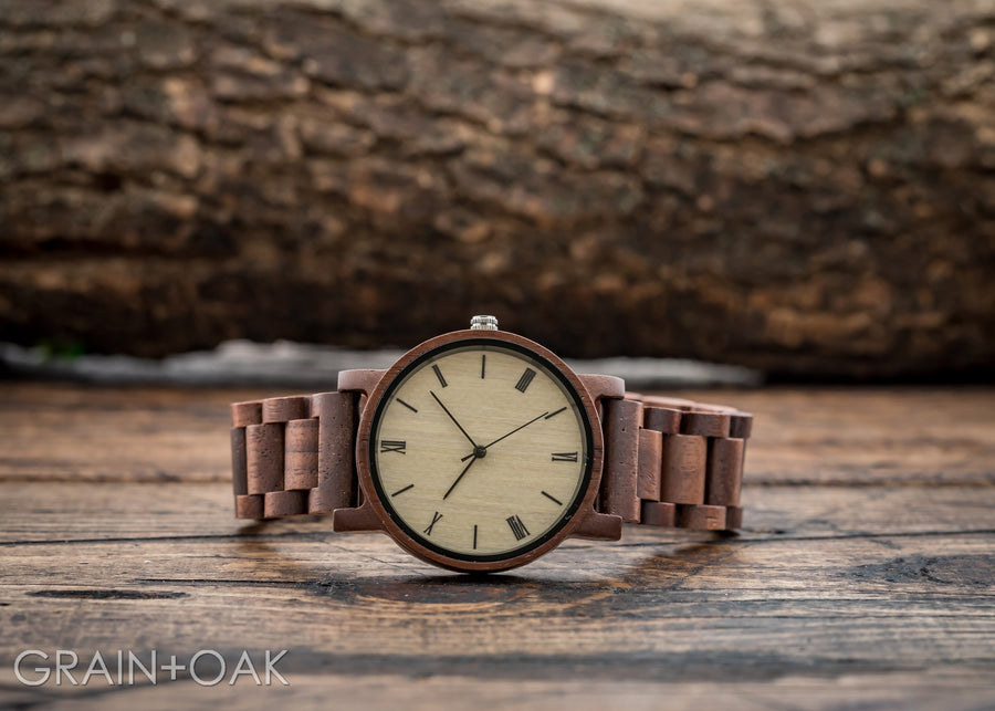The Cedric Walnut | Set of 10 Groomsmen Watches Grain and Oak