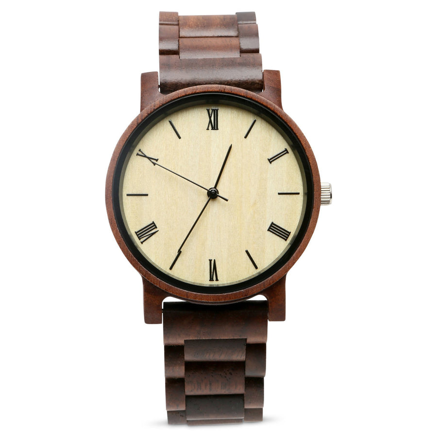 The Cedric Walnut | Wood Watch Wooden Band Watches Grain and Oak