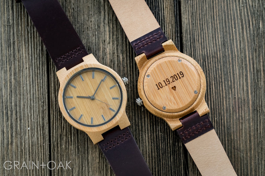 The Chester | Set of 11 Groomsmen Watches Grain and Oak