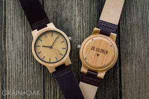 The Chester | Set of 8 Groomsmen Watches Grain and Oak