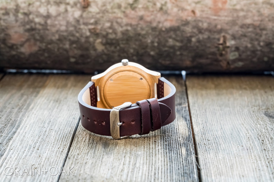 The Chester | Wood Watch Leather Band Watches Grain and Oak