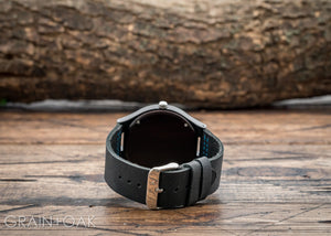 The Christopher Blue | The Wood Watch Leather Band Watches Grain and Oak