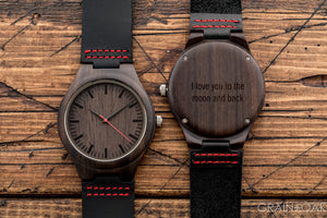 The Christopher Red | Set of 4 Groomsmen Watches Grain and Oak