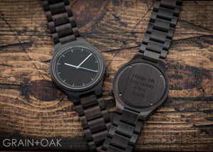 The Classic Ebony | Set of 4 Mens Watches Grain and Oak