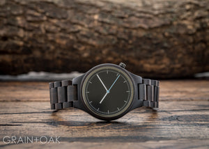 The Classic Ebony | Set of 6 Groomsmen Watches Grain and Oak