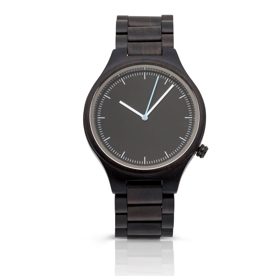 The Classic Ebony | Wood Watch Wooden Band Watches Grain and Oak