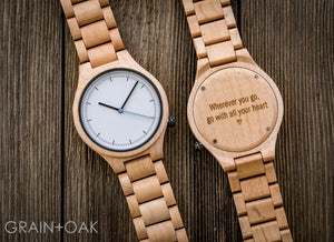 The Classic Maple | Set of 6 Groomsmen Watches Grain and Oak