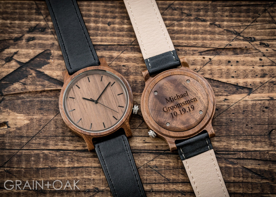 The Edwin | Set of 9 Groomsmen Watches Grain and Oak