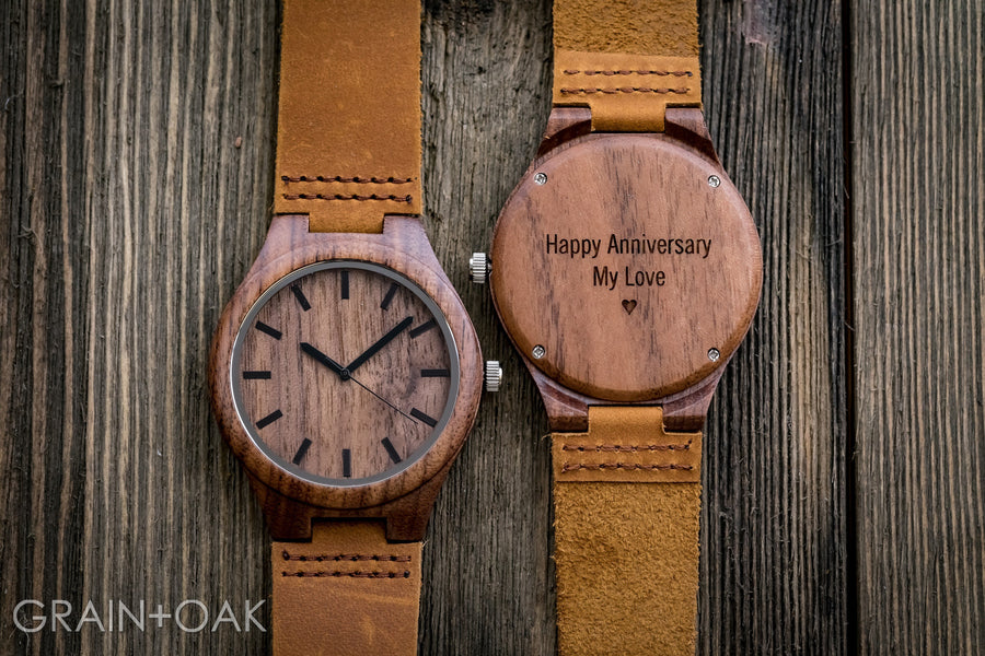 The Gibson | Set of 10 Groomsmen Watches Grain and Oak