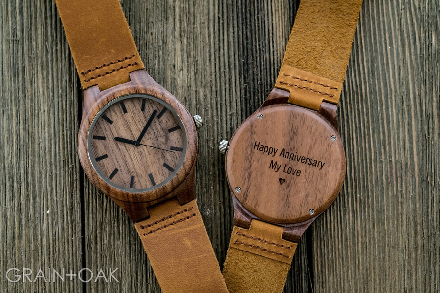 The Gibson | Set of 12 Groomsmen Watches Grain and Oak