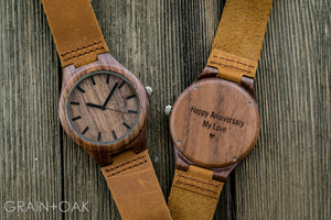 The Gibson | Wood Watch Leather Band Watches Grain and Oak