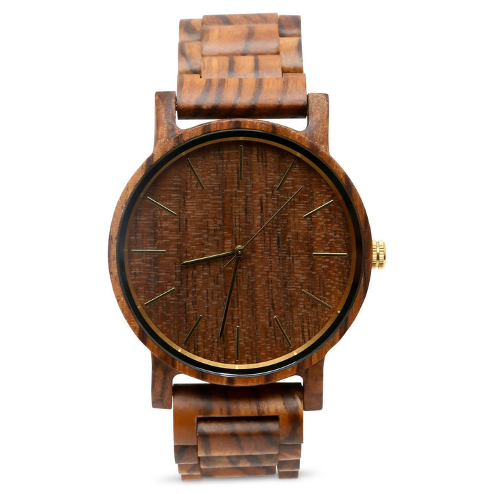 The Lenny Sandalwood | Wood Watch Wooden Band Watches Grain and Oak