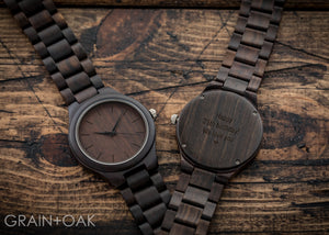 The Nash | Wood Watch Wooden Band Watches Grain and Oak